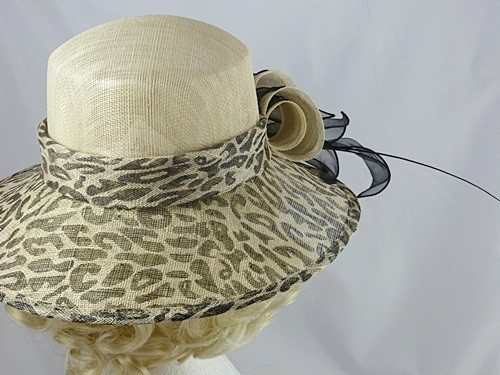 Nikita Rose Design Cream Animal Print Hat