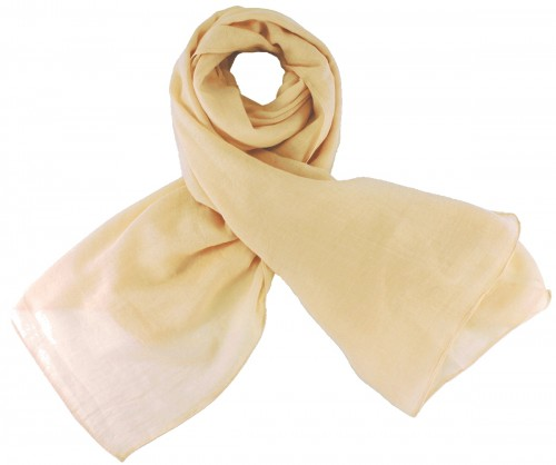 Max and Ellie Fine Woven Scarf in Nude