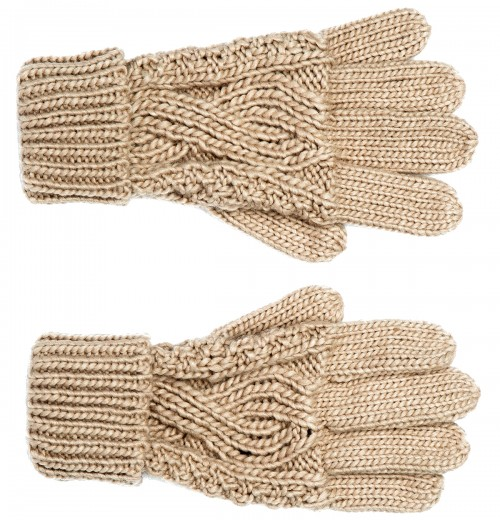 Boardman Darby Ladies Cable Knit Beanie and Matching Gloves