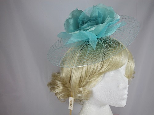 Hawkins Collection Flower and Net Headpiece