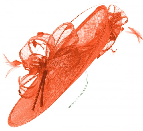 Max and Ellie Events Disc Headpiece in Orange