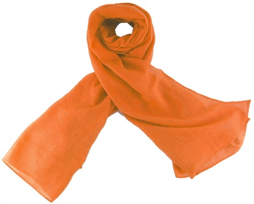 Max and Ellie Fine Woven Scarf in Orange