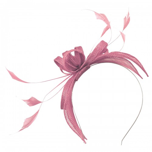 Failsworth Millinery Sinamay Fascinator in Orchid
