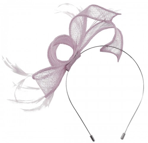 Max and Ellie Sinamay Fascinator in Orchid