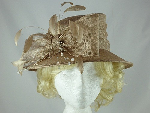 Wedding Hats 4U - Hawkins Collection Short Brim Wedding Hat in Oyster 24b7bc284f11