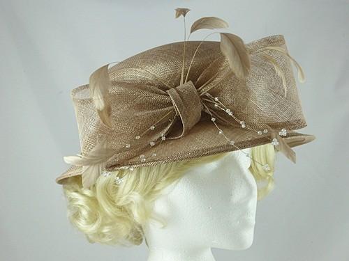 01685bbcc4a Wedding Hats 4U - Hawkins Collection Short Brim Wedding Hat in Oyster