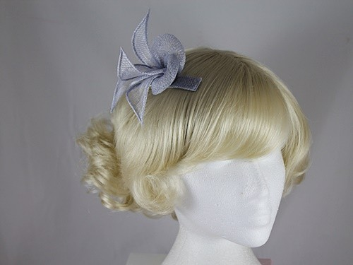 Elegance Collection Sinamay Small Leaves Fascinator in Pale Blue