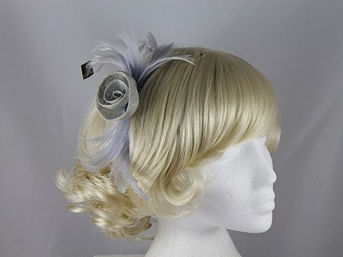 Pale Blue Sinamay Fascinator
