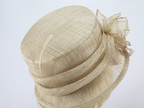Pale Toffee Wedding Hat