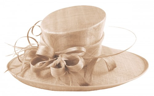 Fascinators 4 Weddings - Elegance Collection Ascot Hat in Peach ... 18762cb5616