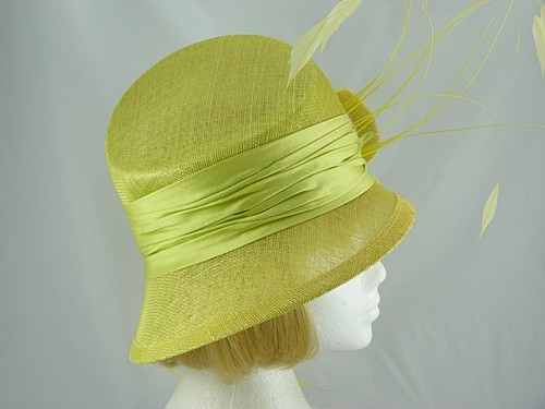 Peter Bettley Pale pea green Wedding hat