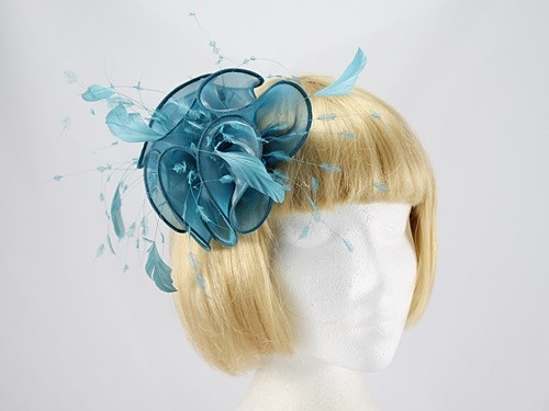 Petrol Blue Fascinator