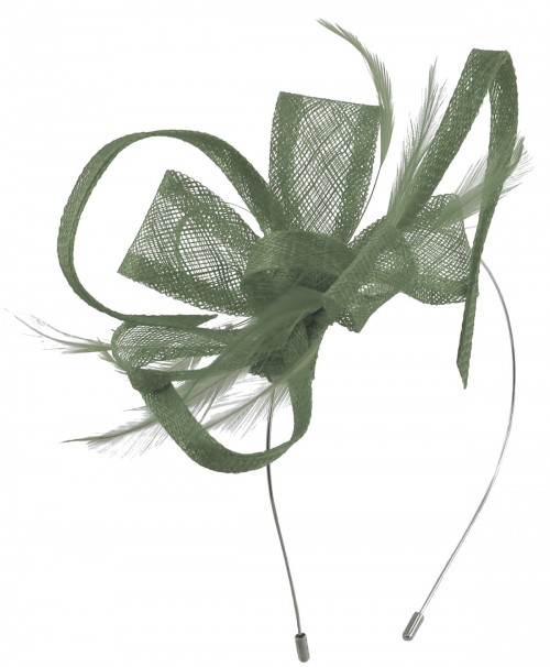 Max and Ellie Flower Fascinator in Pewter