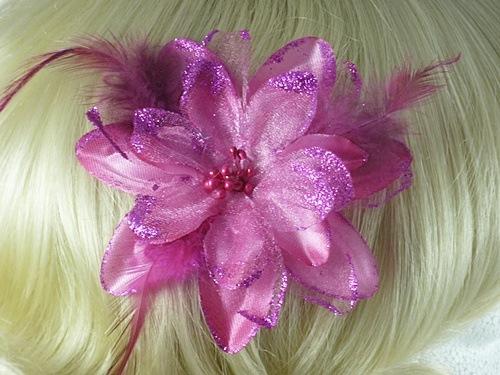 Glitter Flower Fascinator