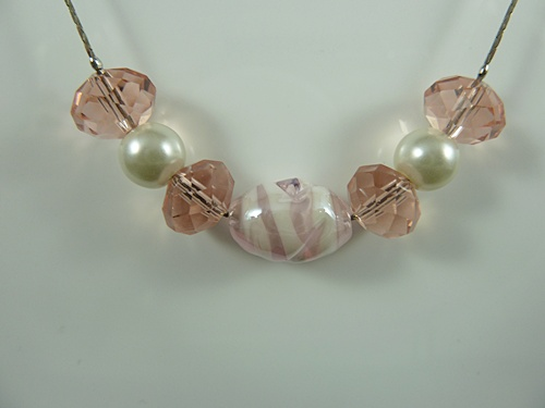 Bead and Pearl Necklace