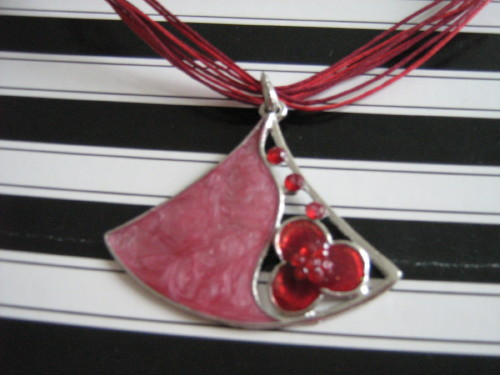 Pink and Red Necklace