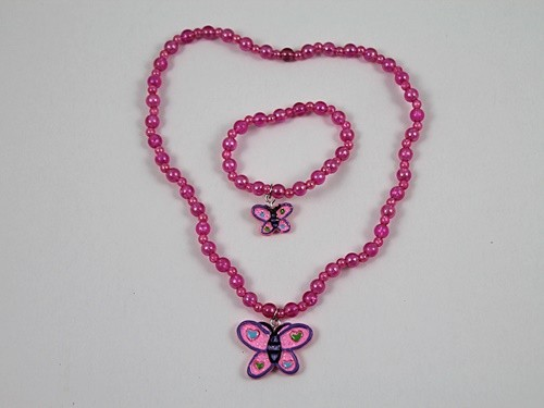 Butterfly Necklace and Bracelet Set