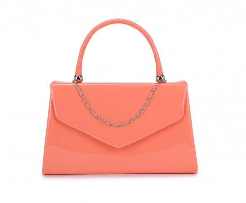 Papaya Fashion Patent Evening Bag
