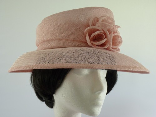 Ascot Hats 4U - Wedding hat pink in Pink   Peach   Apricot 04794ea1e3a