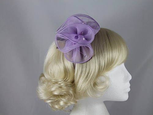 Plaza Suite NY Lilac Organza Fascinator
