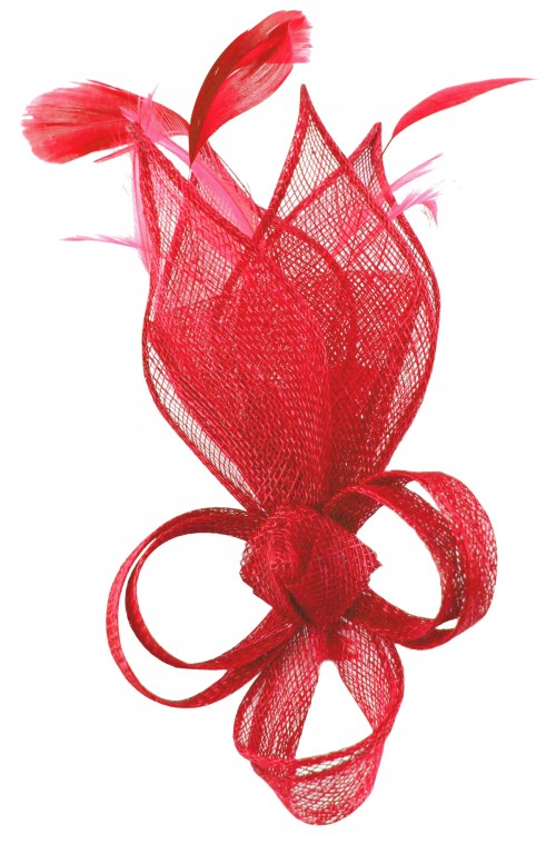Max and Ellie Lily Comb Fascinator in Poppy