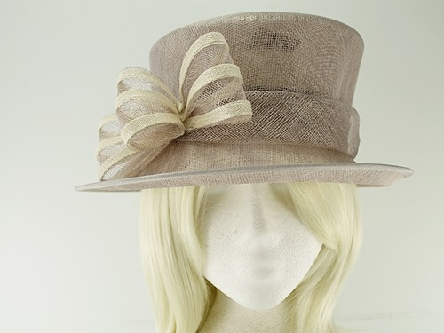 Failsworth Millinery Two Tone Bow Wedding Hat