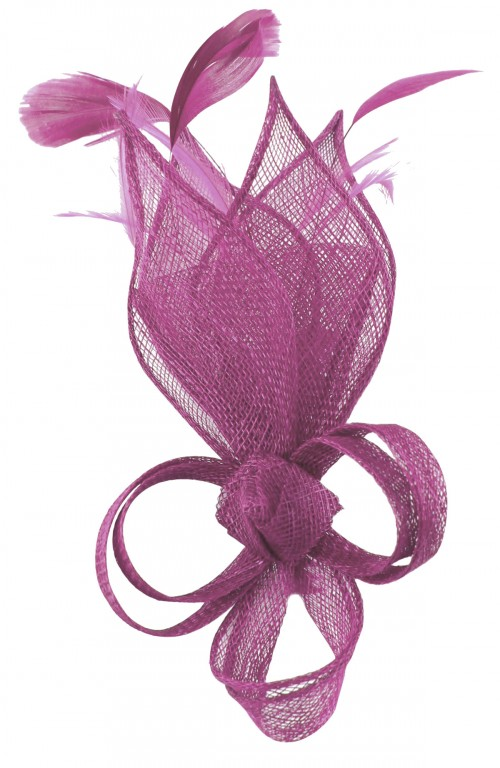 Max and Ellie Lily Comb Fascinator in Purple