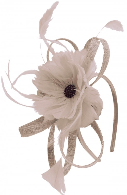 Failsworth Millinery Flower Fascinator in Quartz