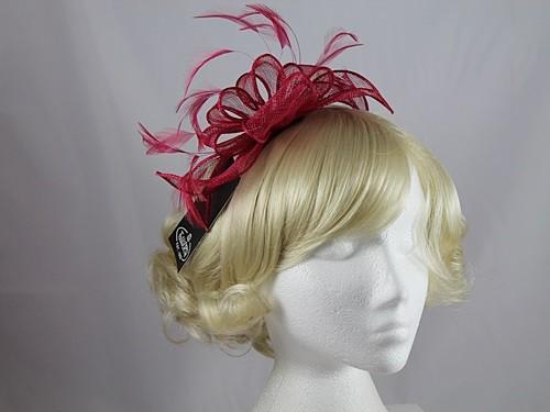 Ascot Hats 4U - Failsworth Millinery Fascinator in Raspberry (6687) 90f8f81919b