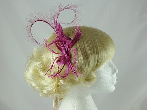 Wedding Hats 4U - Hawkins Collection Fascinator with Twisted Biots ... e8dd273b6d6