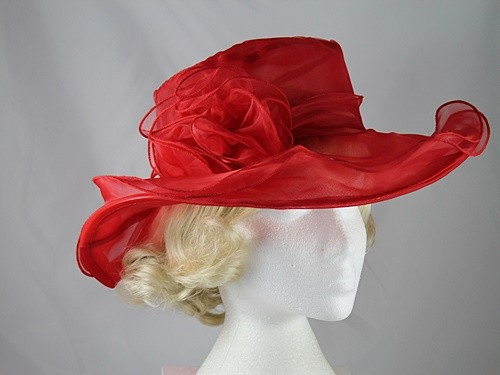 Wedding Hats 4U - Collapsible Wedding Hat in Red 694e24a3d46