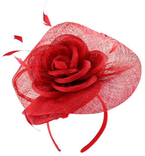 Elegance Collection Rose Pillbox Headpiece