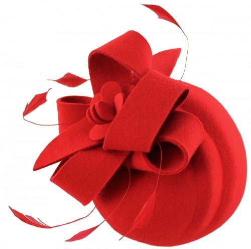Failsworth Millinery Wool Felt Flower Pillbox