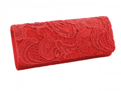 Papaya Fashion Lace Pattern Evening Bag
