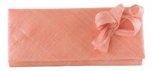 Elegance Collection Sinamay Occasion Bag in Rose