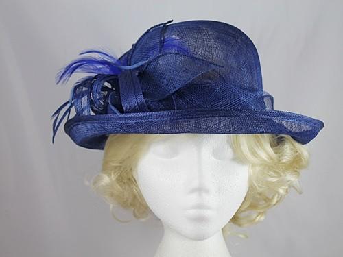 Wedding Hats 4U - Leaves and Loops Wedding Hat in Royal Blue aef43f78830