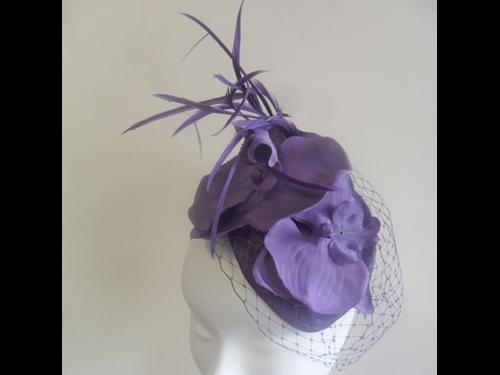 Suzie Mahony Designs Lilac Headpiece