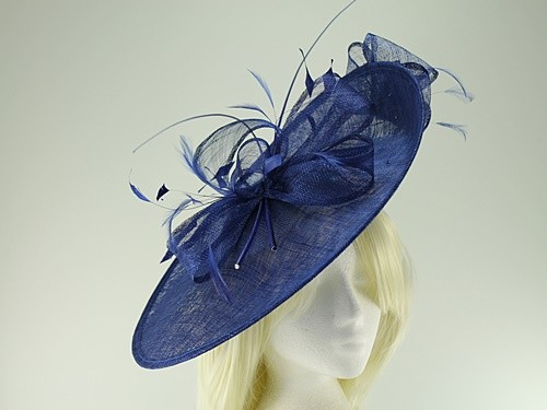 68db5728 Ascot Hats 4U - Max and Ellie Events Disc Headpiece in Sapphire ...