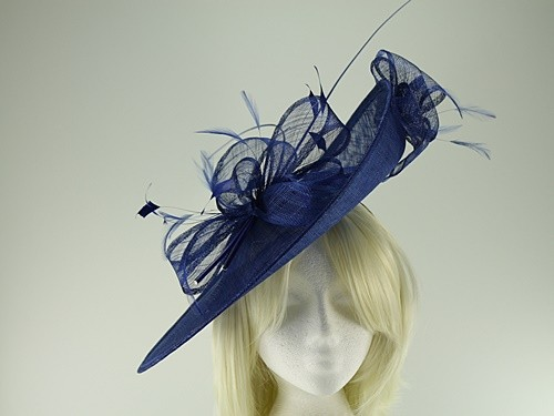 c45886b5 Ascot Hats 4U - Max and Ellie Events Disc Headpiece in Sapphire (ML16-GD3)