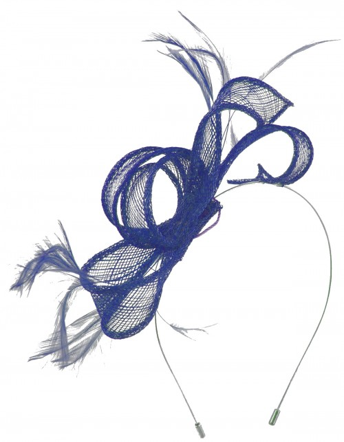 Max and Ellie Sinamay Fascinator in Sapphire