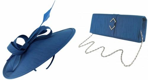 Failsworth Millinery Silk Disc Headpiece with Matching Silk Bag