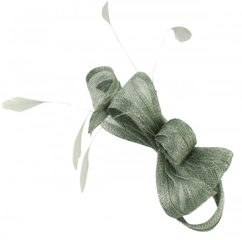 Elegance Collection Loops Clip Fascinator with Matching Sinamay Bag