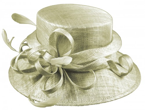 Elegance Collection Sinamay Loops Wedding Hat e8b69dedb91