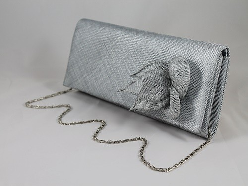 Elegance Collection Sinamay Occasion Bag in Silver
