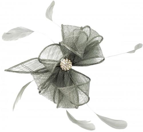 Wedding Hats 4U - Elegance Collection Small Clip Diamante Fascinator ... 8481d458b06