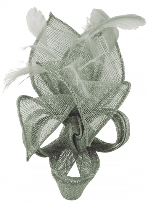 Max and Ellie Lily Comb Fascinator in Silver