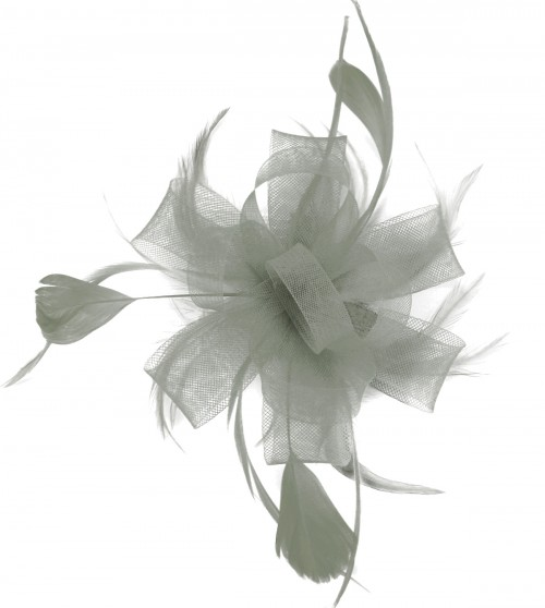 Fascinators 4 Weddings - Molly and Rose Two Tone Fascinator in Silver be75ed2c464