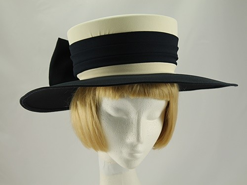 Simon Ellis Navy and Cream Formal Hat