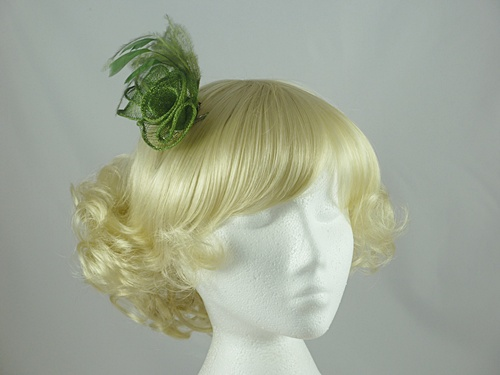 Sinamay Swirl & Ostrich Feather Fascinator