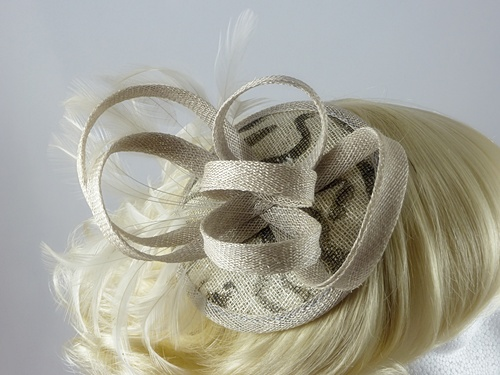 Sinamay Print Fascinator